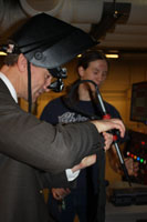 Minneapolis Mayor RT Rybak Welding at MCTC
