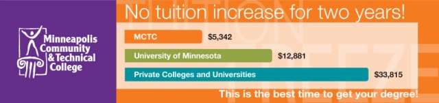 Photo: MCTC tuition compared with other colleges.